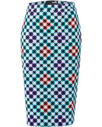 Love Moschino Geometric Print Pencil Skirt - Lyst