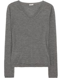 Miu Miu Cashmere and Silkblend Sweater - Lyst