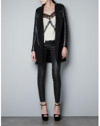 Zara Black Coat  - Lyst