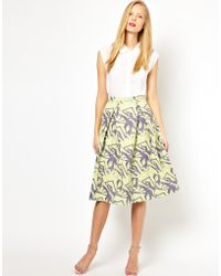 ASOS Collection | Asos Midi Skirt in Abstract Jacquard | Lyst