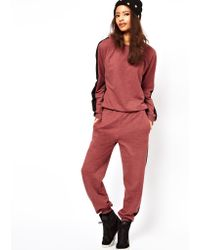 ASOS Collection Asos Onesie with Side Stripe red - Lyst