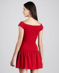 Black Halo Lisette Offtheshoulder Dress red - Lyst