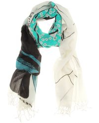 Dries Van Noten Asian Print Cashmere Scarf - Lyst