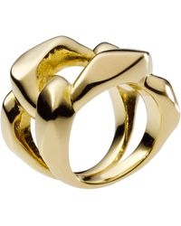 Michael Kors Chain Ring - Lyst
