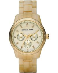 Michael Kors Horn Jet Set Watch - Lyst