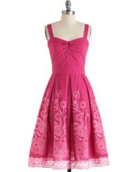 ModCloth Berry Good Gardener Dress - Lyst