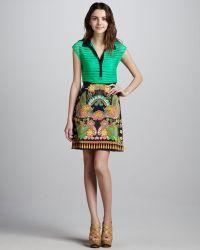 Nanette Lepore Jane Printed Skirt - Lyst