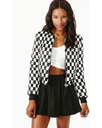 Nasty Gal Check Yourself Bomber - Lyst