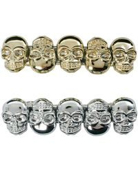 Asos Pack Of Two Skull Barrettes - Lyst