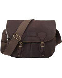 Barbour Olive Tarras Wax and Leather Satchel - Lyst