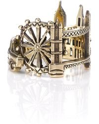Zara Simon Gold London Ring - Lyst