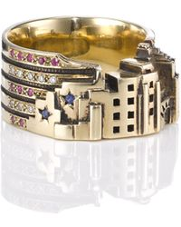 Zara Simon Gold New York Ring - Lyst