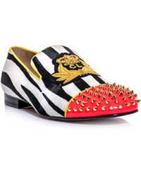 Christian Louboutin Harvanana Zebra Ponyskin Loafer - Lyst