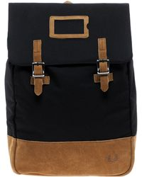 Fred Perry - Suede Panel Backpack - Lyst