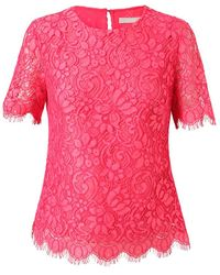 Jason Wu Lace and Silk Top - Lyst