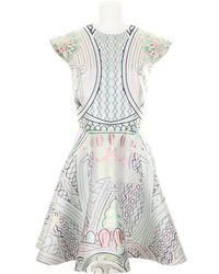 Mary Katrantzou Silk and Polyester Jacquard Dress with A Stamp and Banknotes Kaleidoscopic Print - Lyst