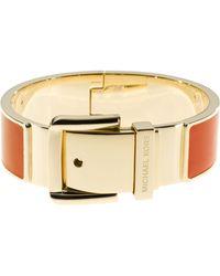 Michael Kors Buckle Enamel Bracelet Orange - Lyst