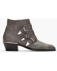 Chloé Studded Ankle Boots - Lyst