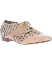 Laboratorigarbo - Mesh Kangaroo Leather Lace-Up Shoes - Lyst
