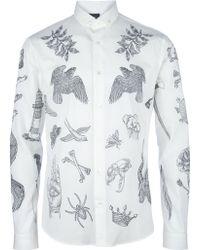 McQ by Alexander McQueen Print Shirt white - Lyst