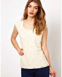 Oasis T-Shirt with Laser Cut Front - Lyst