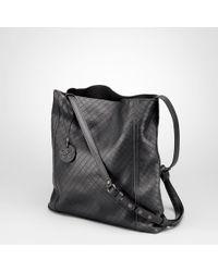 Bottega Veneta Nero Intrecciomirage Cross Body Bag - Lyst