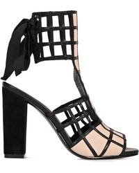Reiss Ana Lattice Caged T Bar Peep Sandal - Lyst