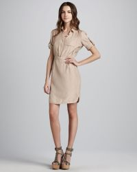 Burberry Brit - Shortsleeve Silk Shirtdress - Lyst