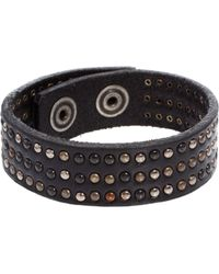 DIESEL - Ascalios Leather Bracelet - Lyst