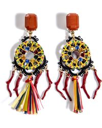 Dolce & Gabbana Raffia and Macramé Multibead Earrings - Lyst