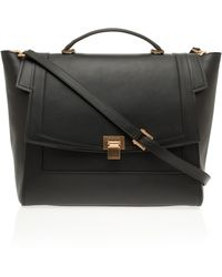 Elie Saab Large Calfskin Metal Buckle Bag - Lyst
