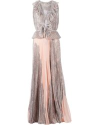 Emilio Pucci Pleated Full Length Dress - Lyst