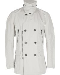 Lanvin Double Breasted Trench Coat - Lyst