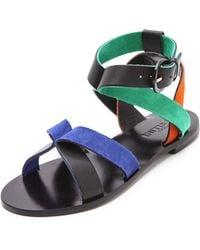 Studio Pollini - Multicolor Flat Sandals - Lyst