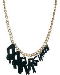 Tatty Devine Aarrghhhh Necklace black - Lyst