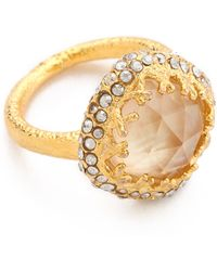 Alexis Bittar Floral Small Cushion Ring - Lyst