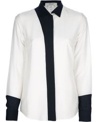 Avhash by Anne Valérie Hash Griffin Twotone Blouse - Lyst