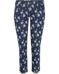 J.Crew Toothpick Printed Mid-Rise Skinny Jeans - Lyst