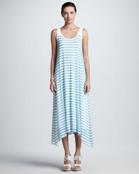 Jean Paul Gaultier Striped Tulle Aline Tank Maxi Dress - Lyst