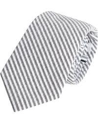 Thom Grey - Seersucker Tie - Lyst