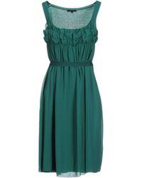 Silk And Soie Short Dress - Lyst