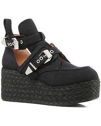 Jeffrey Campbell The Platrane Espadrille Shoe in Black Fabric - Lyst