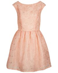 Topshop Delicate Organza Prom Dress pink - Lyst