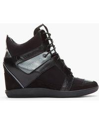 Y-3 - Black Gunmetal Sukita Ii Sneaker Wedges - Lyst