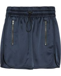 Alexander Wang Drawstring Track Mini Skirt - Lyst