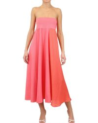 Antonio Marras Cotton Voile and Jersey Long Skirt-Dress - Lyst