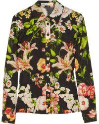 Clements Ribeiro - Foxglove Floralprint Washedsilk Shirt - Lyst