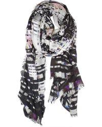Contileoni - Skyscraper Print Silk Blend Scarf - Lyst