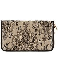 Dolce & Gabbana Miss Astrid Satin Chantilly Lace Clutch - Lyst