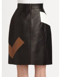 Fendi Leather Maxi F Skirt - Lyst
